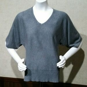 Gray Batwing Top by New York & Company Size M